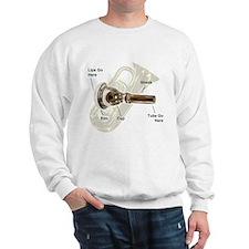 Tuba Go Here Sweatshirt