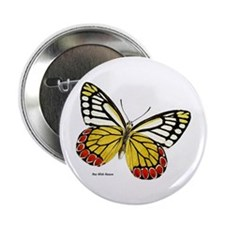Red Dots Butterfly Button