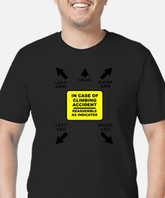 Reassemble Rock Climbing FOR BACK OF Funny T-Shirt