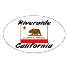 Riverside California Oval Decal