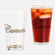 Cute Carmen Drinking Glass