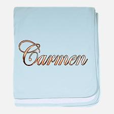 Gold Carmen baby blanket