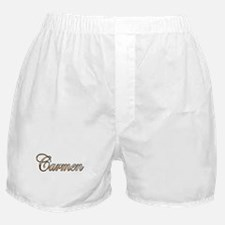 Gold Carmen Boxer Shorts