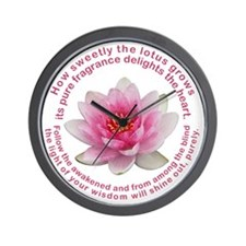 Buddha - Lotus Flower Wall Clock