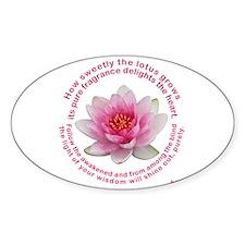 Buddha - Lotus Flower Oval Decal