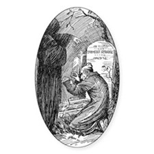 Scrooge's Grave Oval Decal
