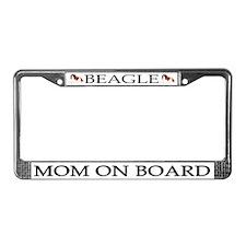 Beagle Mom License Plate Frame