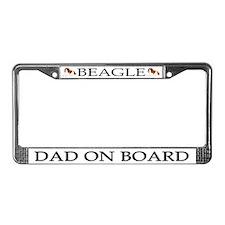 Beagle Dad License Plate Frame