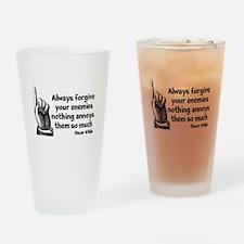 Annoy Enemies Drinking Glass