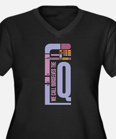 We call ourselves the Q (black) Plus Size T-Shirt