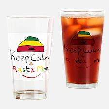 Funny Rasta Drinking Glass
