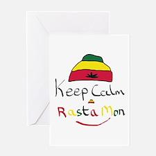 Keep Calm Rasta Mon Greeting Cards