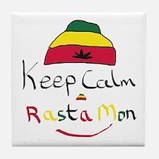 Keep Calm Rasta Mon Tile Coaster