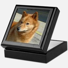 Cute Finnish spitz Keepsake Box