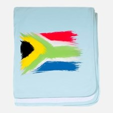 South Africa flag cape town baby blanket