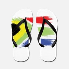 South Africa flag cape town Flip Flops