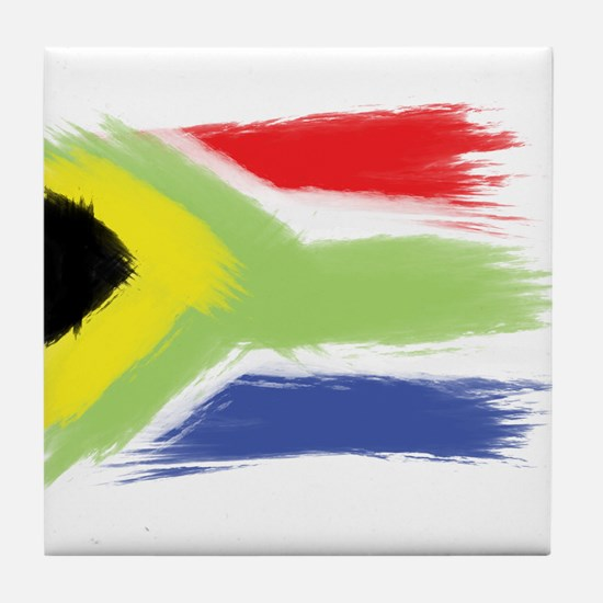 South Africa flag cape town Tile Coaster