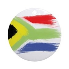 South Africa flag cape town Round Ornament
