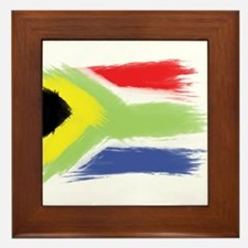 South Africa flag cape town Framed Tile
