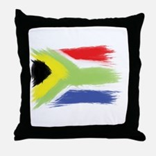 South Africa flag cape town Throw Pillow