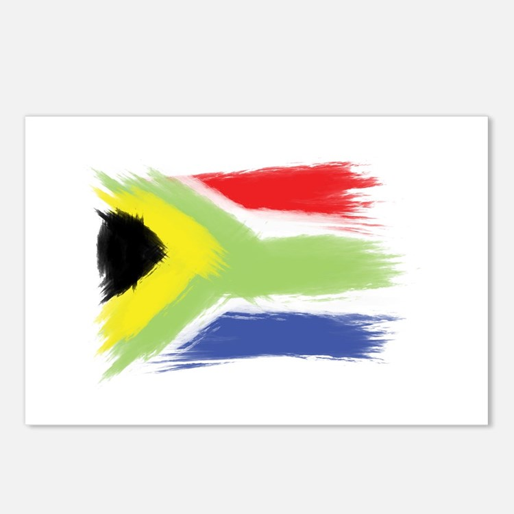 South Africa flag cape to Postcards (Package of 8)