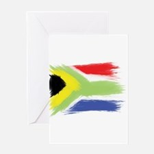 South Africa flag cape town Greeting Cards