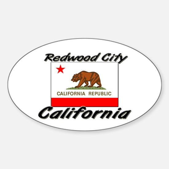 Redwood City California Oval Decal