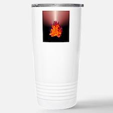 Kanji beauty flaming red Travel Mug