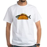 Fish taco Mens Classic White T-Shirts