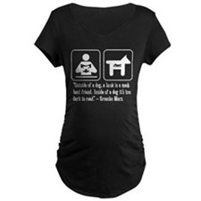 Book man's best friend Groucho Marx Maternity Tee