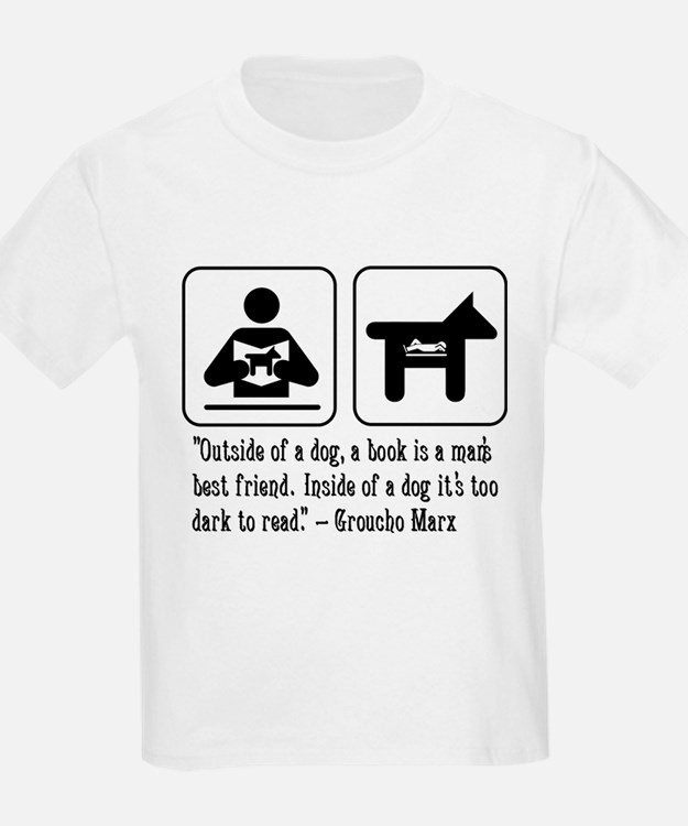 Book man's best friend Groucho Marx Kids Light Tee