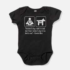 Book man's best friend Groucho Marx Baby Bodysuit