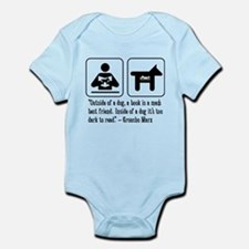 Book mans best friend Groucho Marx Infant Bodysuit