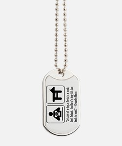 Book man's best friend Groucho Marx Dog Tags