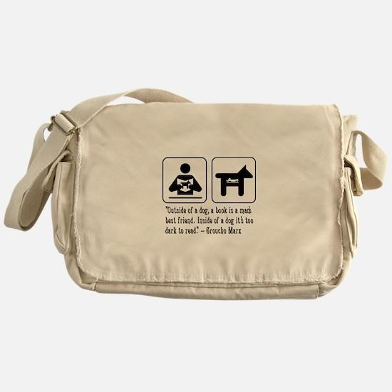 Book man's best friend Groucho Marx Messenger Bag