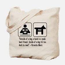 Book man's best friend Groucho Marx Tote Bag
