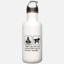 Book mans best friend Groucho Marx Water Bottle