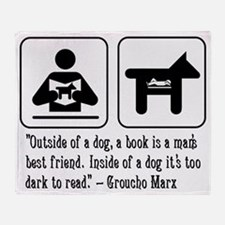 Book man's best friend Groucho Marx Throw Blanket