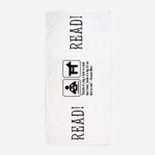Book man's best friend Groucho Marx Beach Towel