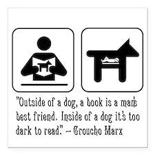 Book man's best friend Groucho Marx Car Magnet