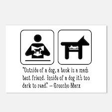 Book man's best friend Groucho Marx Postcards (Pac
