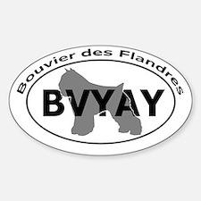 BOUVIER DES FLANDRES Sticker (Oval)