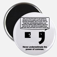 "The Power of Commas 2.25"" Magnet (10 pack)"