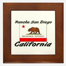 Rancho San Diego California Framed Tile