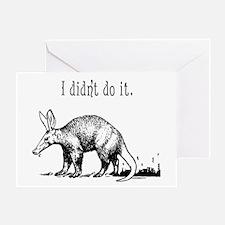 Cute Aardvark Greeting Card