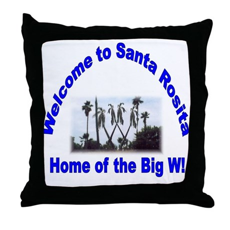 Big W Throw Pillow by underabigw