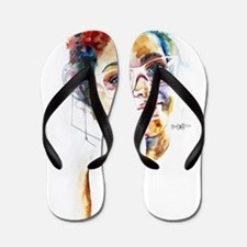 Colorful Mind Flip Flops