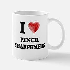I Love Pencil Sharpeners Mugs