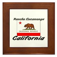 Rancho Cucamonga California Framed Tile