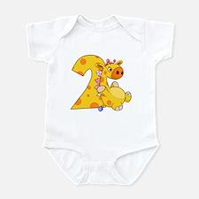2nd Birthday Giraffe Infant Bodysuit